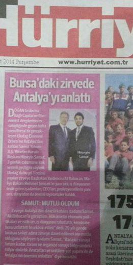 Hürriyet- Bursadaki Zirvede Antalya-yı antalattı