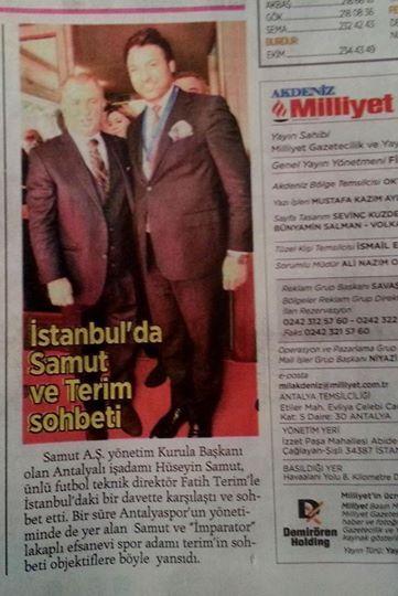 Milliyet - İstanbul da  samut ve terim sohbeti